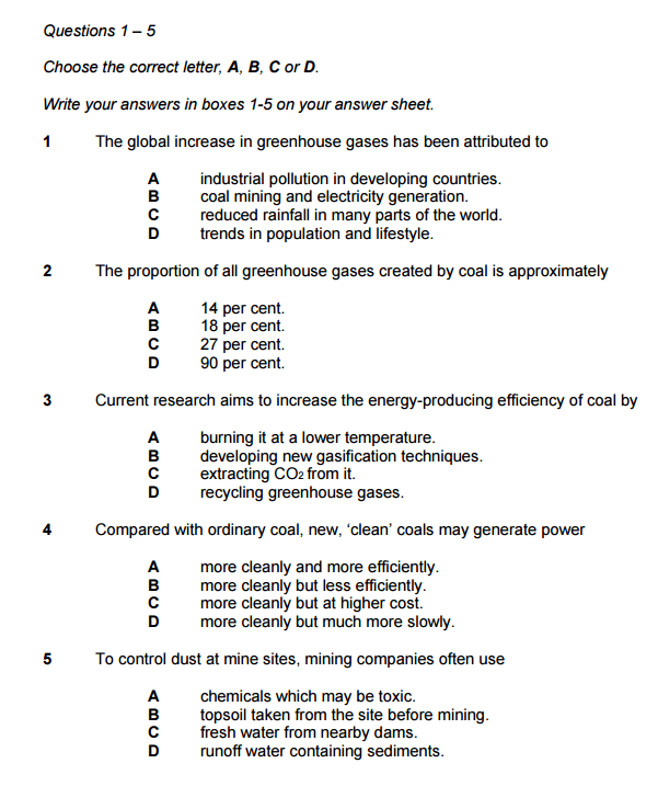 mcq-2 - IELTS Reading- Multiple Choice Questions