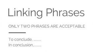 IELTS conclusion linking phrases
