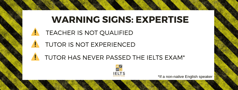 Image: signs-of-an-ielts-scam-expertise