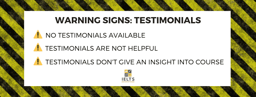 Image: signs-of-an-ielts-scam-testimonials