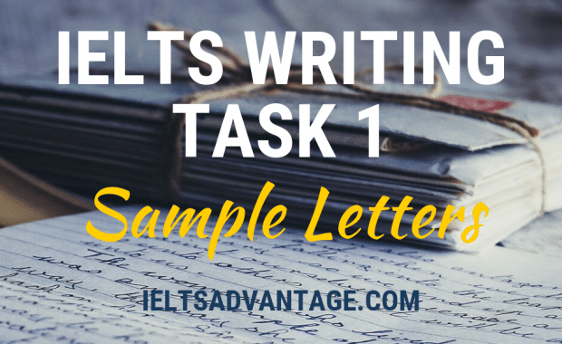 IELTS Writing Task 1 Sample Letters