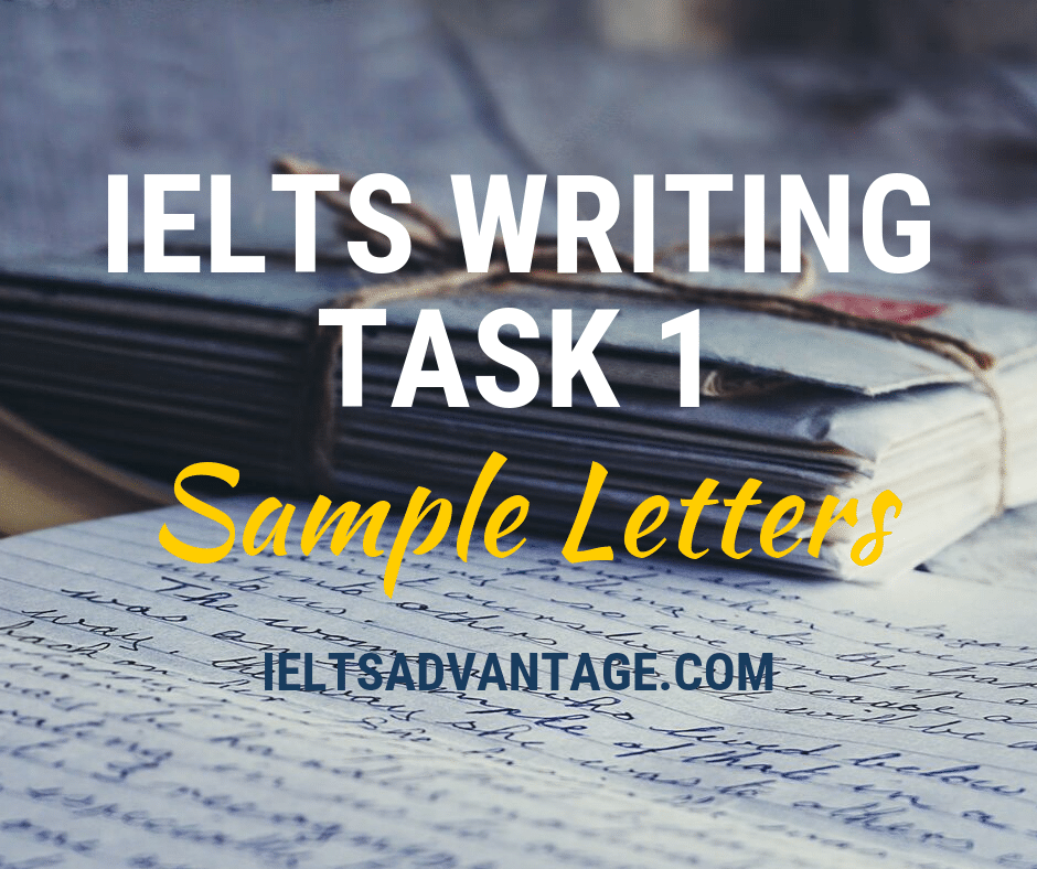 IELTS Writing Task 1 Sample Letters